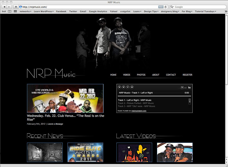 NRP Music: Home