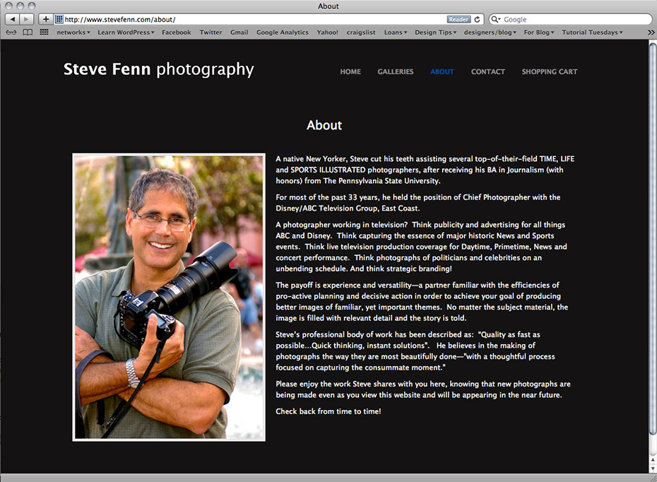 Steve Fenn Photography: About