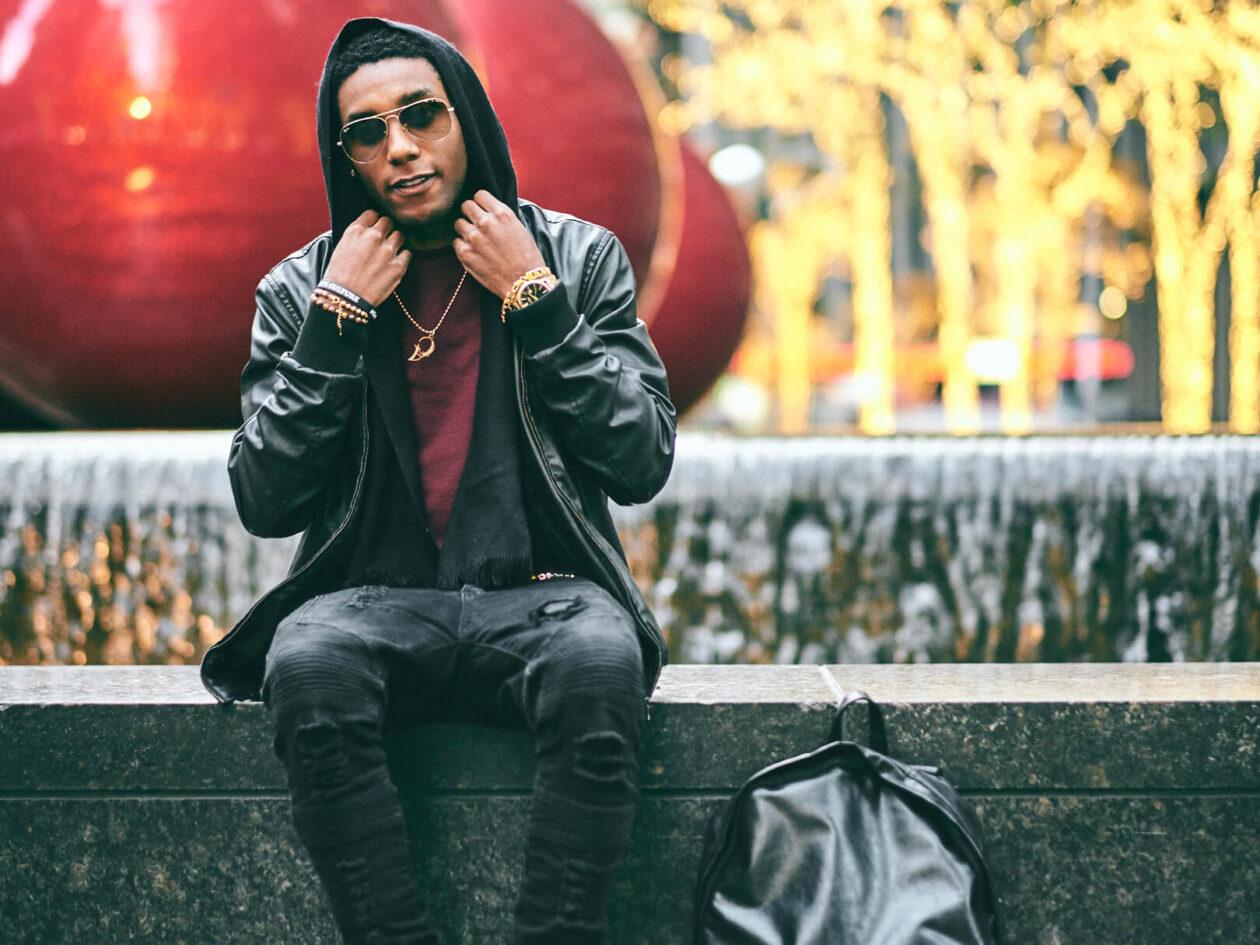 Fuji X Pro2 with xf 56mm f1.2 - Fashion lifestyle photography around New York Radio City Music Hall - Model: Bryan