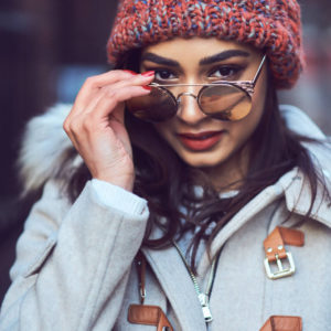 Fuji X Pro2 with xf 56mm f1.2 - Winter Fashion Portrait Photography in Greenwich Village, New York with model Fadia