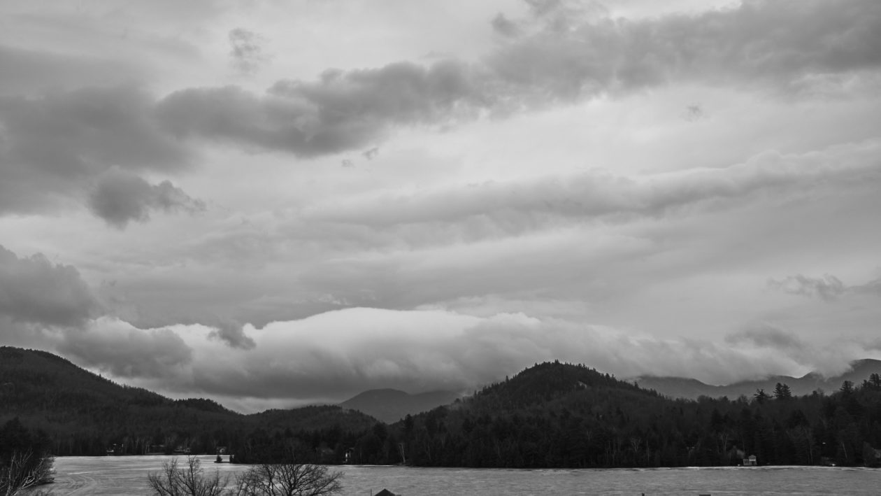 FujiFilm X100T - Black and White Landscape Photography at Lake George New York mountainside road trip
