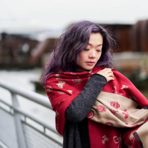 Fuji X Pro2 with xf 56mm f1.2 - Asian woman with scarf - Portrait Fashion Photography in Riverside Park New York - Model: LisePro2 with Fujinon xf 56mm 1.2 - Asian woman with scarf - Portrait Fashion Photography in Riverside Park New York - Model: Lise