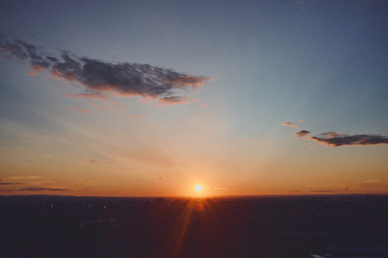 FujiFilm X100T - Sunset on Balcony in Montreal