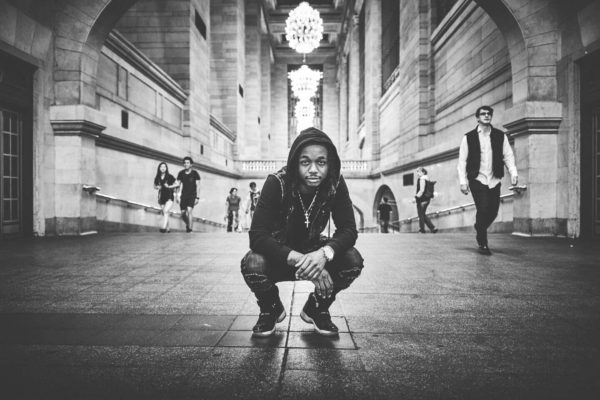 Fuji X Pro2 with xf 16mm f1.4 - Black and White New York portrait photography in Grand Central Station - Model: Idris