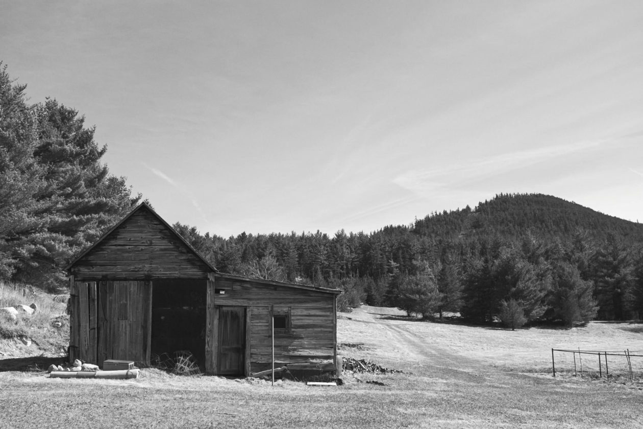 FujiFilm X100T - Landscape Photography at Lake George New York mountainside road trip with a cabin in the foreground