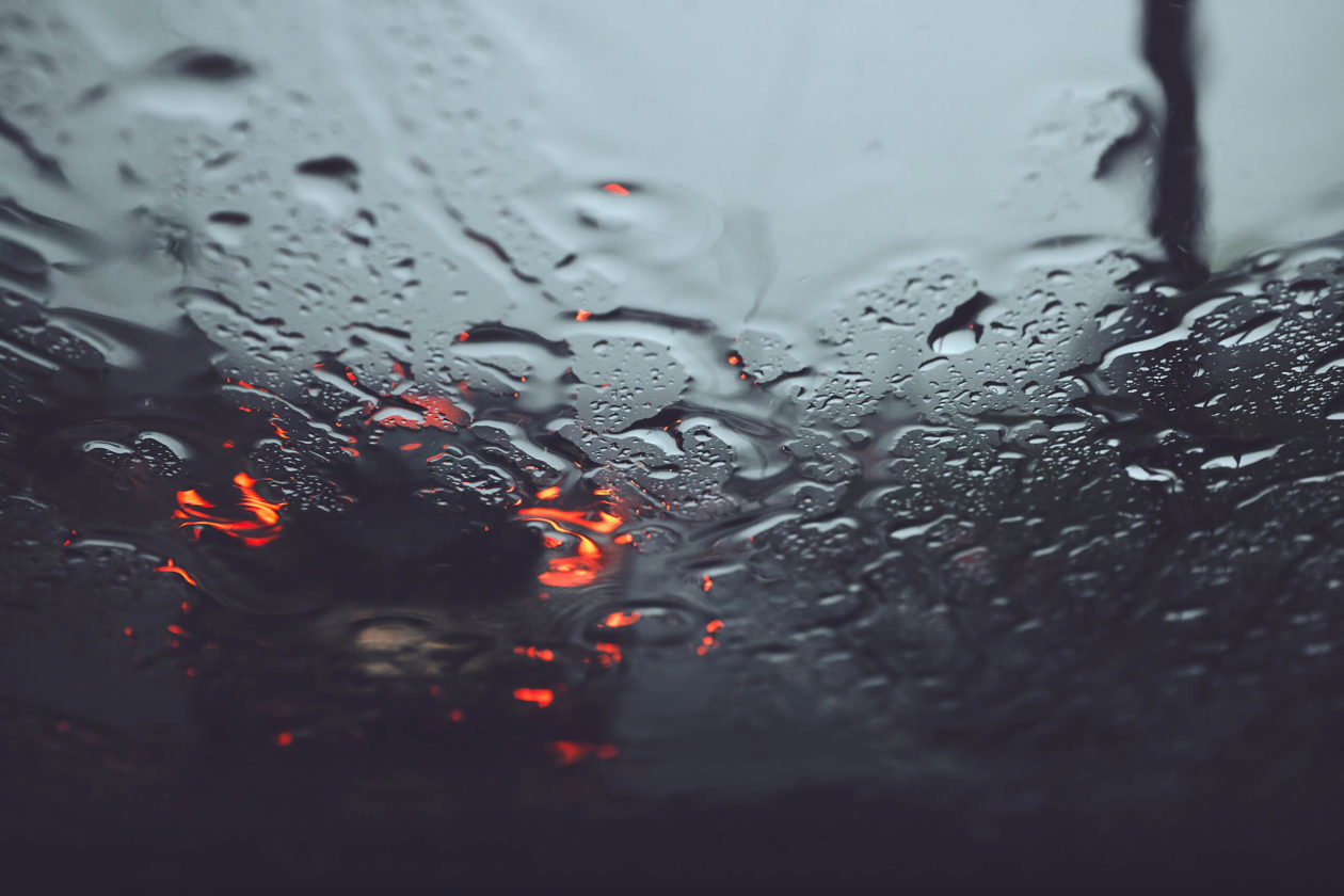 FujiFilm X100T - Montreal Rainy Day Wet Windshield