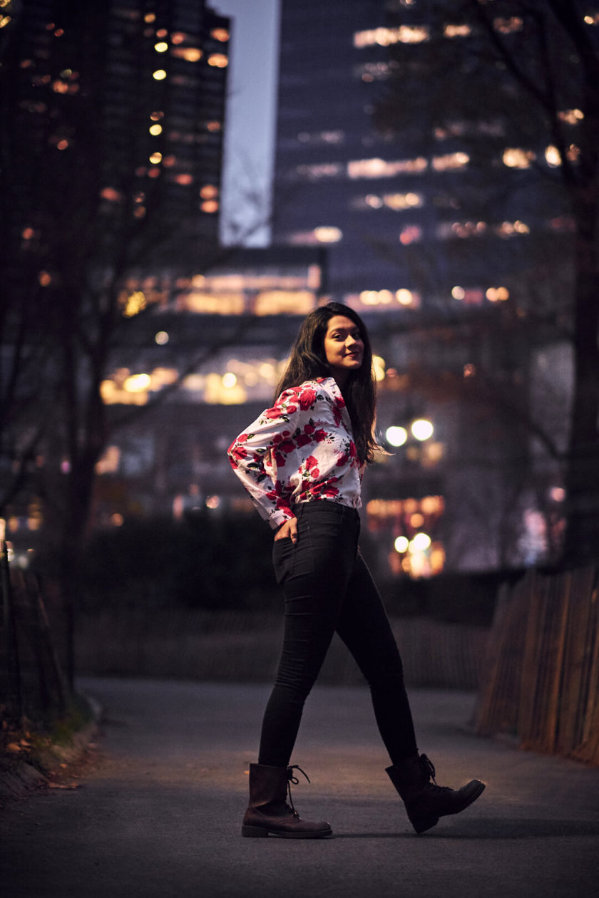 Fuji X Pro2 with xf 56mm f1.2 - Women's fashion portrait photography in Central Park New York - Model: Mousumi