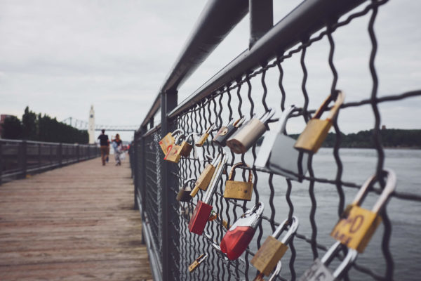 Montreal Old Port Love Locks - Fuji X100T - Montreal Street Photography - Love Locks